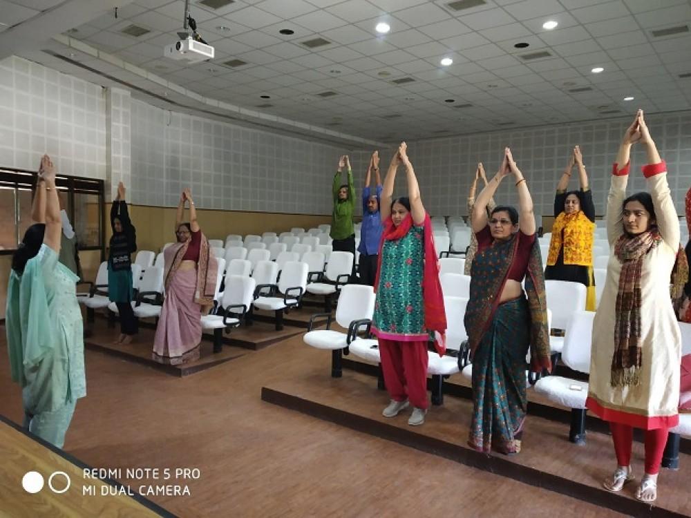 Yoga Session, November - 2018