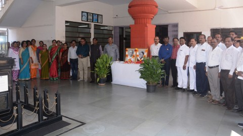 The Program of The Birth Anniversary of Sardar Patel & Death Anniversary of Indira Gandhi At Yashwantrao Chavan Maharashtra Open University